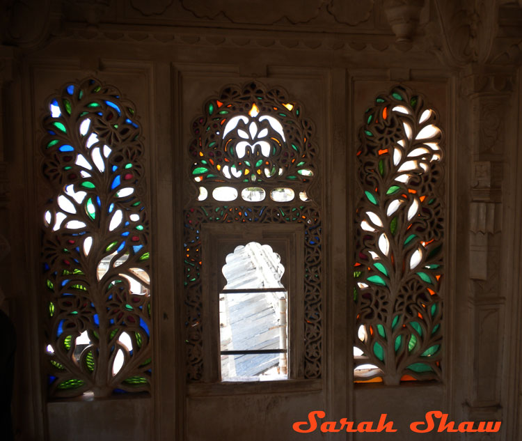 Colored Glass Art in the City Palace
