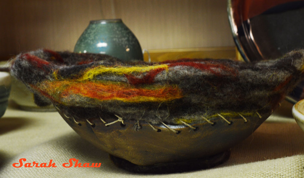Felt and Ceramic Bowl