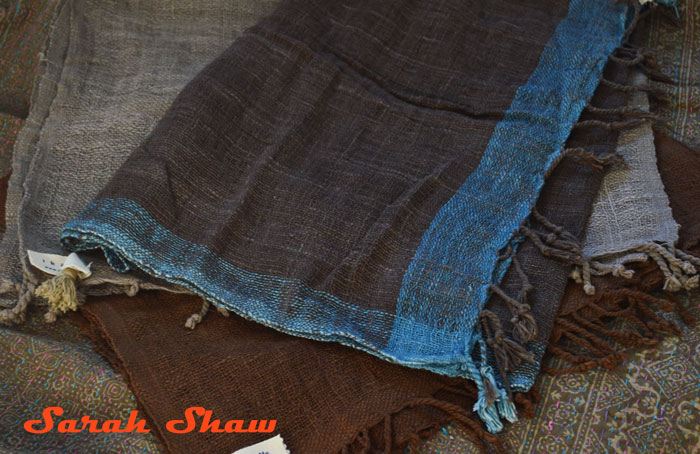 Natural dyed scarves from Thailand