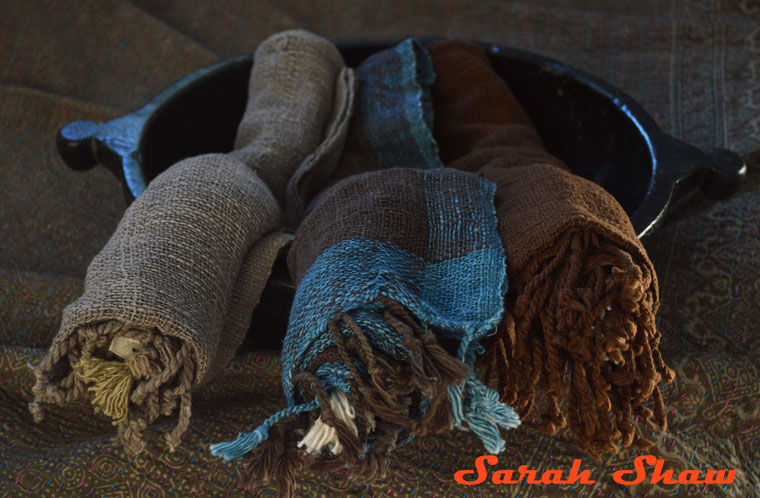 Natural dyed scarves from Ikat and Me