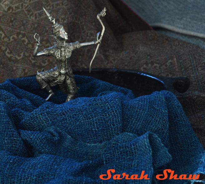 Indigo cotton scarf