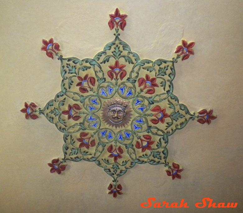 Ceiling decoration with family seal