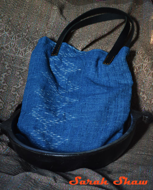 Ikat indigo totebag from Ikat and Me