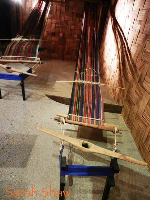 Back strap looms on display