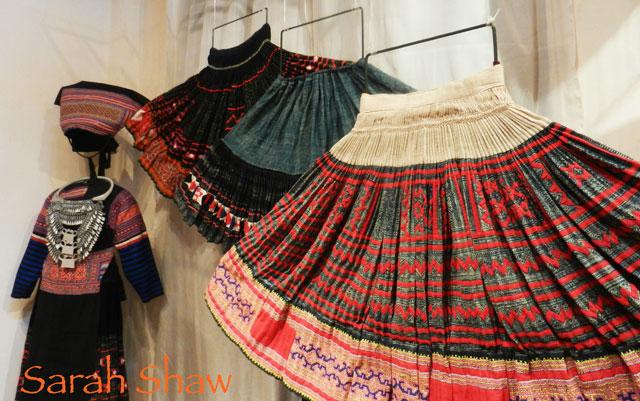 Hmong Skirts on Display
