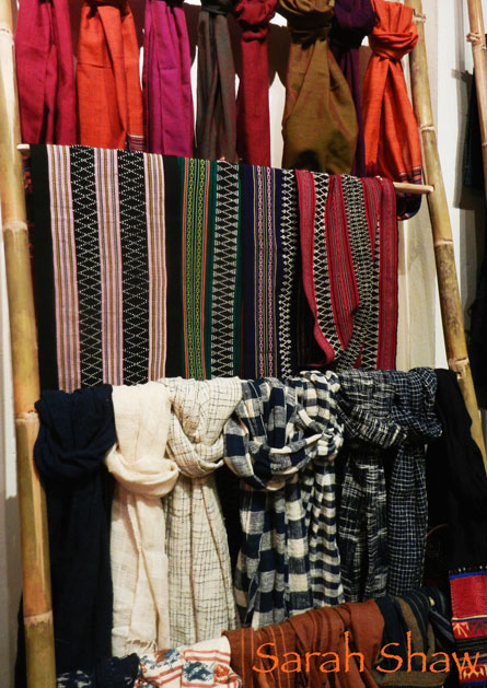 Handwoven scarves and sashes