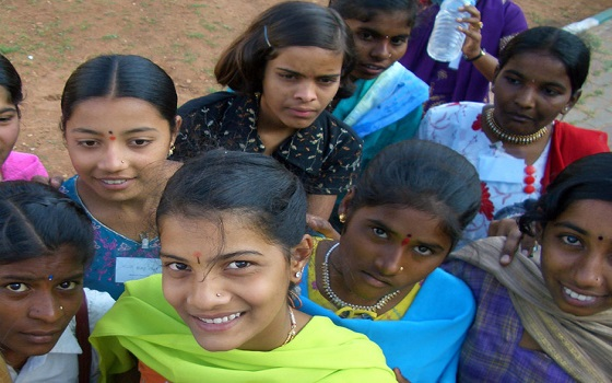 Girls in India featured