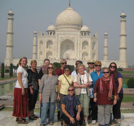 Women Tour Group at Taj Mahal