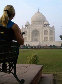 Beth at the Taj Mahal