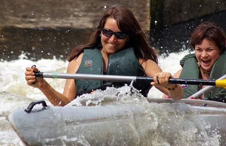 Women rafting