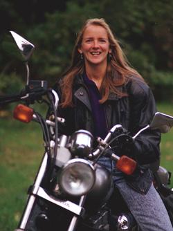 Beth on Bike