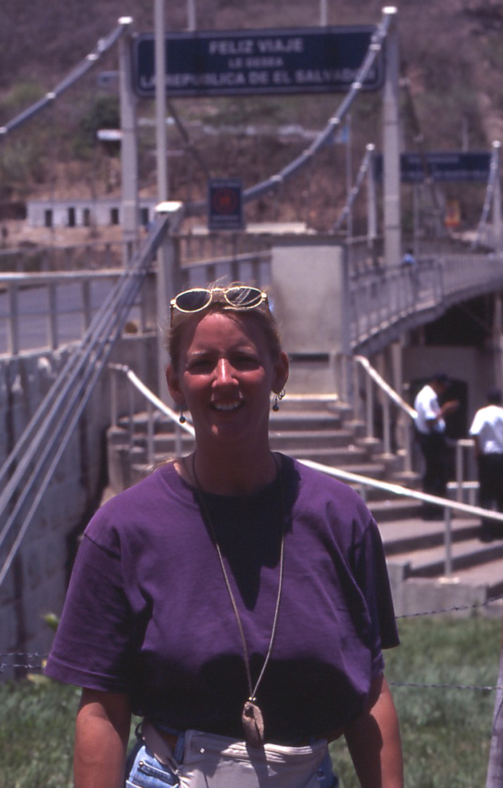 Beth at El Salvador Border