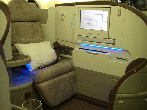 airplane business class