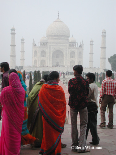 Taj Mahal with Saris