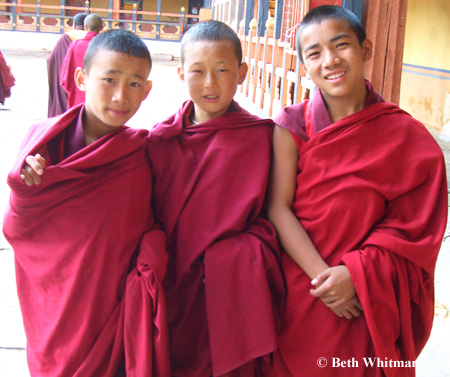 Monks in Paro