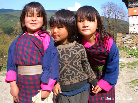 Young Girls in Bhutan