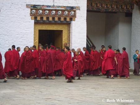 Monks inPunakha