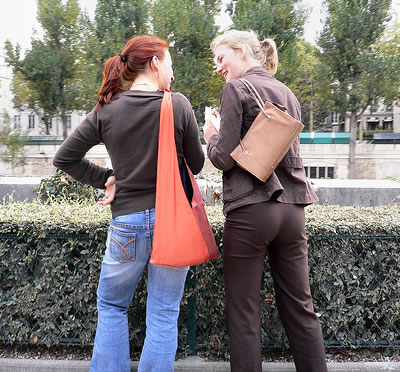 Two Women talking