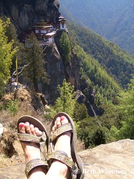 Beth in Tevas - Bhutan