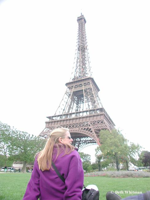 Beth at Eiffel Tower