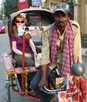 Woman on Cycle Rickshaw
