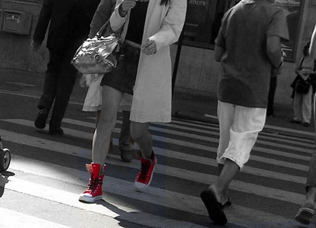 Women in Red Shoes