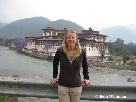 Beth at Punakha Dzong
