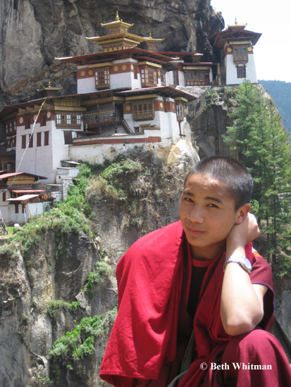 Young Monk at Tiger's Nest
