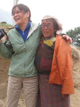 Susan and Woman Bhutan