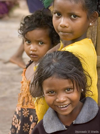 Kids in developing country