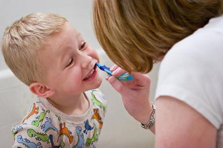 Boy with nurse