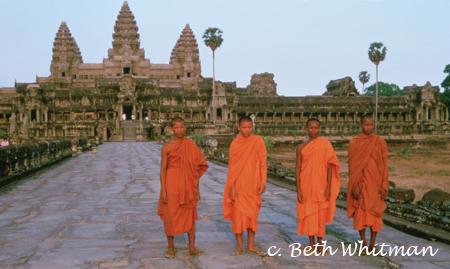 Cambodia Monks at Angkor Wat