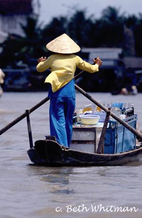 Vietnam Rowing on Mekong Delta