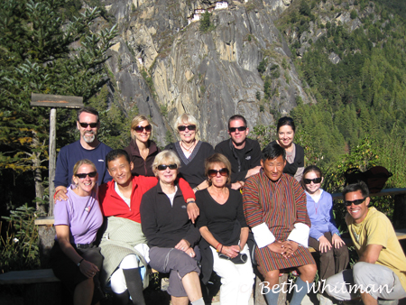 Group at Tigers Nest Bhutan
