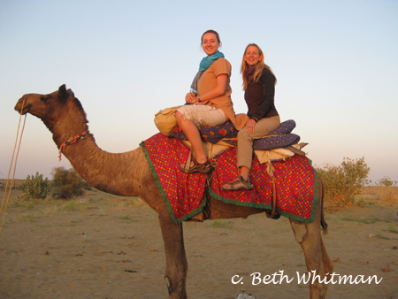 Lauren and Beth on Camel