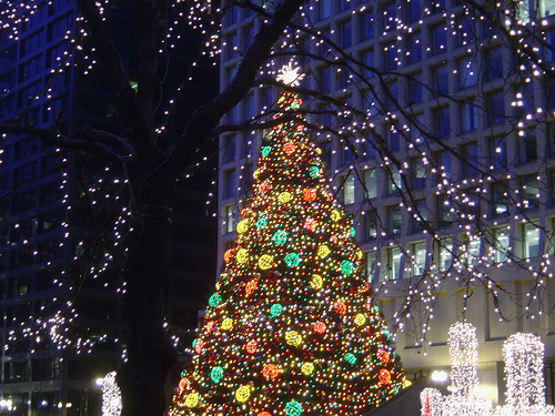 Christmas in Chicago Daly Plaza