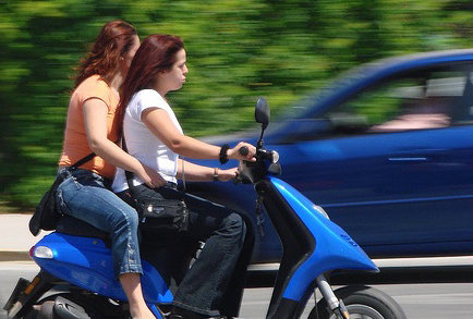 Girls on Motorbike