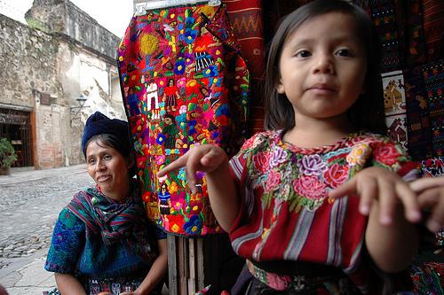 Guatemalan woman and girl