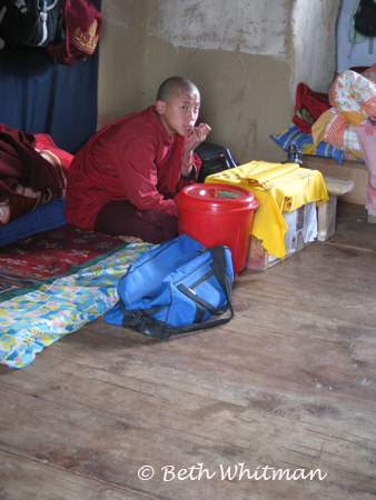 Monk in Gangtey Gompa