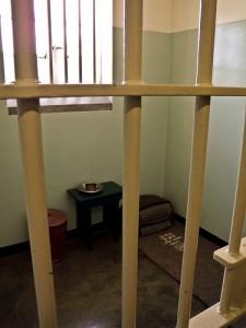 Nelson Mandela's prison cell