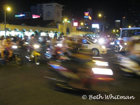 Saigon Streets and Motorbikes