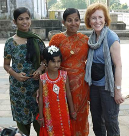 Tourist with Local Indian Women