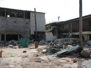tsunami wreckage
