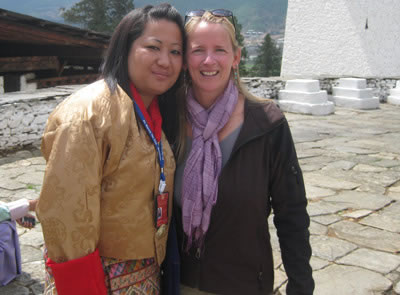 Sonam and Beth Whitman in Bhutan