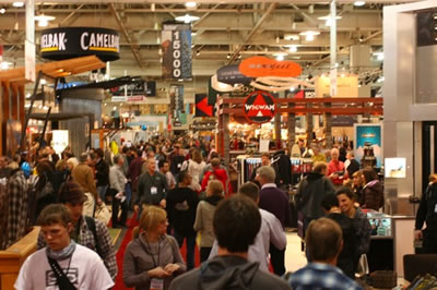 outdoor retailer show floor
