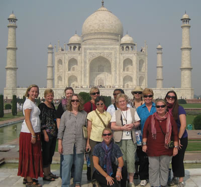 India Womens Group at Taj Mahal