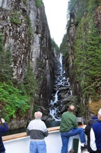 viewing waterfall