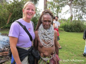 Beth with Tribal Chief's Wife - Papua New Guinea