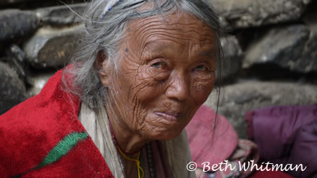 Eastern Bhutan Trek Old Brokpa Woman