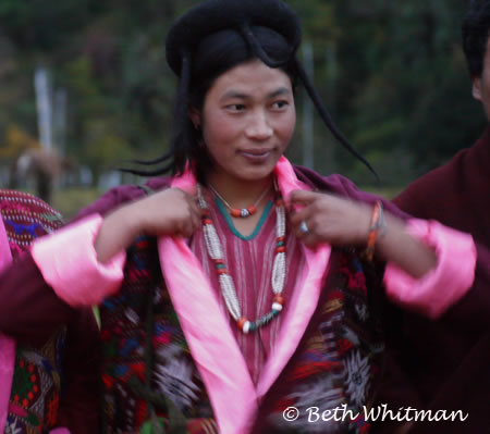 Eastern Bhutan Trek Brokpa Woman in Sakten